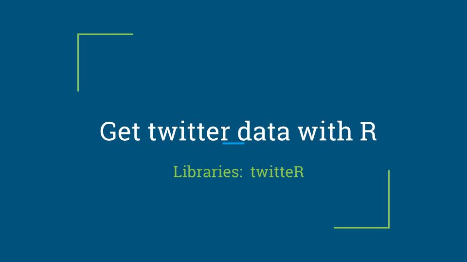 Get twitter data with R