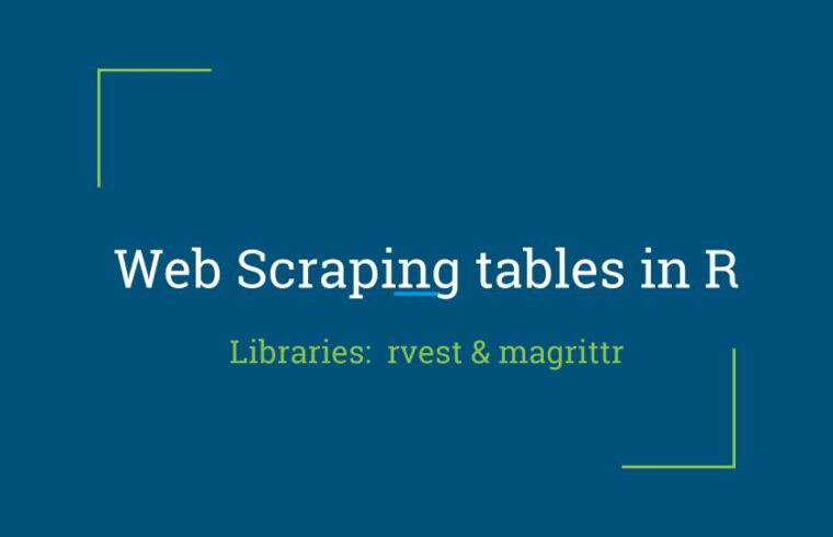 Web Scraping of tables in R | Blog R | Web Scraping with R
