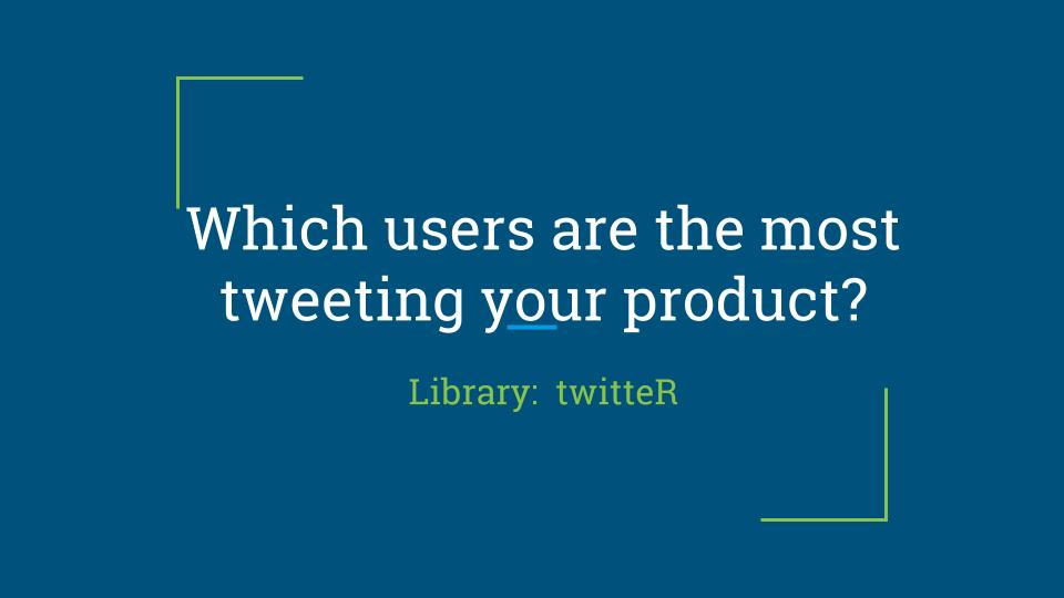 Which users are the most tweeting your product?