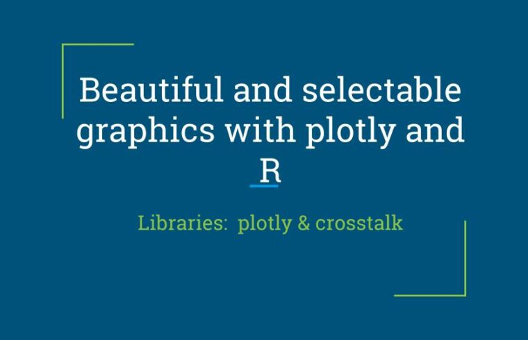 Beautiful and selectable graphics with plotly and R | Blog R