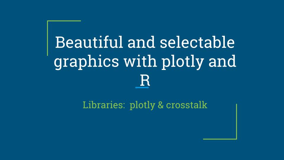 Beautiful and selectable graphics with plotly and R